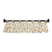 Little Bedding Lil Champ Window Valance, Blue/Red front-595929