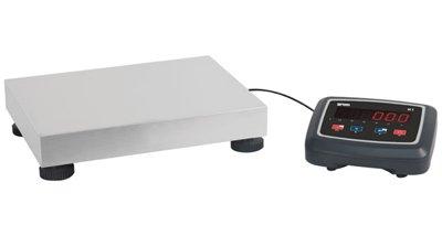 Matériel de pesage - Balance électronique plateforme industrielle inox 40 x 30 cm - capacité : 30kg lecture à 5g