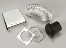 Westland VID403AC Chrome Deluxe Dryer Vent Kit