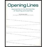 img - for Opening Lines: Approaches to the Scholarship of Teaching and Learning book / textbook / text book