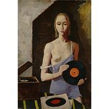 oil-painting-karl-hoferthe-record-player1939-printing-on-high-quality-polyster-canvas-12x18-inch-30x