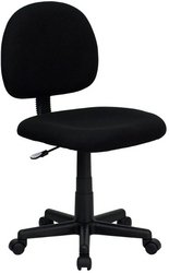 Flash Furniture BT-660-BK-GG Mid-Back Ergonomic Black Fabric Task Chair