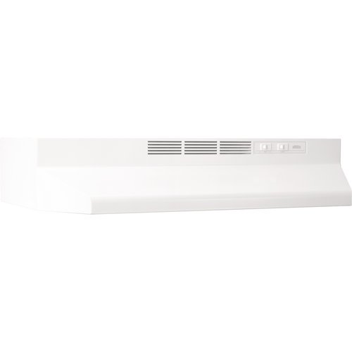 Broan 412401 24 In. White Non-Ducted Range Hood
