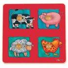 Picture of Fun Chelona Farm Animals Peg Puzzle (B002JPO9OW) (Pegged Puzzles)