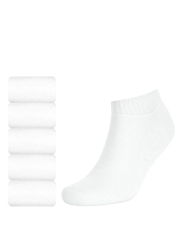5 Pairs of Cotton Rich Quarter Sports Socks