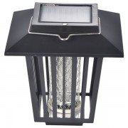 Solar Lamp Light Insect Pest Bug Mosquito Killer Lamps Killing Mosquitoes Both Outdoor And Indoor - Black