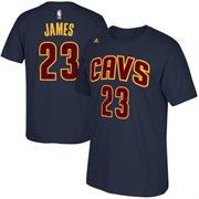 Cleveland Cavaliers Lebron James Adidas Navy Alternate T Shirt одежда для занятий баскетболом nba cleveland cavaliers irving gold jersey