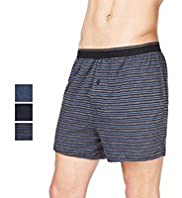 3 Pack Cool & Fresh™ Pure Cotton Knitted Boxers with Stay New™