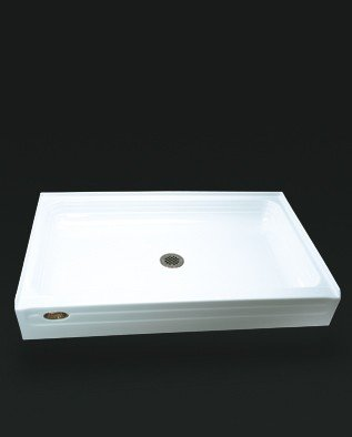 Jacuzzi S368959WH 60-Inch L by 36-Inch W Single Threshold Tru-Level Acrylic Shower Base, White Finish
