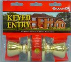 Guard Security Keyed Entry Lockset 1990 With Polished Brass