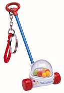 Fisher-Price Corn Popper Keychain by Basic Fun