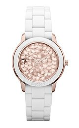 DKNY 3-Hand Pave Crystal Dial Women's watch #NY8667