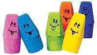 Funny Face Cap Erasers, package of 144