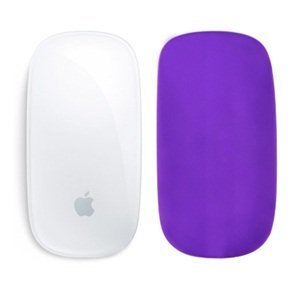 Cosmos � Silicone assent skin protector cover for MAC Apple Magic Mouse (Purple)