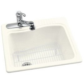 Buy KOHLER River Falls Self-Rimming Laundry Sink, Biscuit #K-6703-3-96 (Kohler Sinks, Plumbing, Sinks, Utility)