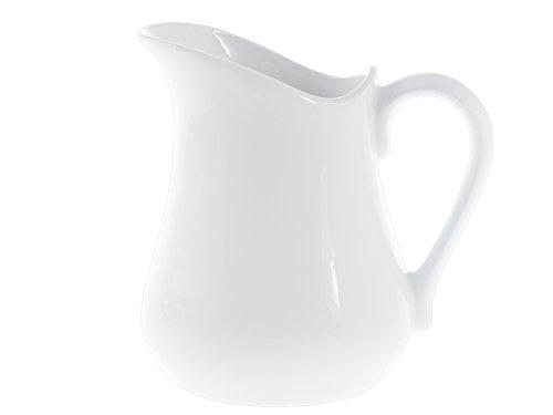 H&H Pot à Lait, Porcelaine, Blanc, 1250 ml