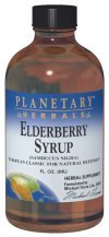 Planetary Herbals Elderberry Syrup , 8 Fl Oz (236.56 Ml) Glass