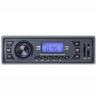 Dual XR4110 AM/FM USB/SD/3.5-mm Mechless Receiver (Gray)