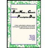 img - for Guide to Brand Name and Generic Prescription Drugs: Fast, Authoritative Reference Guide to the book / textbook / text book