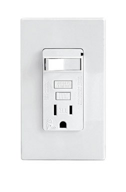 Leviton T7299-Pw Smartlockpro Combination Tamper Resistant Gfci Receptacle And Switch, White