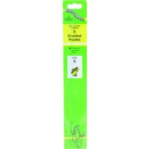 Maurice Sporting Goods #WBH-6 6PK SZ 6 Snelled Hook