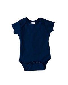 Rabbit Skins Infant Baby Rib Lap Shoulder Bodysuit-12MOS (Navy)