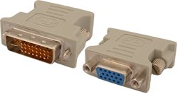 Adaptateur DVI MALE (DVI-D 24+1) vers VGA FEMELLE (15 Broches)