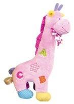 """Plush Giraffe Rattle-Pink-14""""/Baby Shower/BABY GIFT/Plush - 1"""