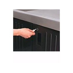 Rubbermaid-Brown Locking Door Kit (6197BN) Category: Service Carts & Acces.