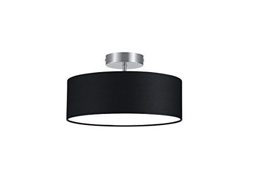 Trio-Leuchten-Deckenleuchte-nickel-matt-Stoffschirm-schwarz-603900302