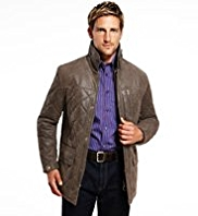 Blue Harbour Leather Quilted Jacket