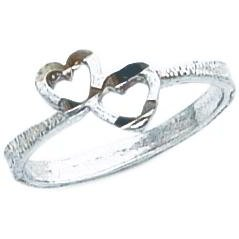 Sterling Silver Heart Promise Ring Sz 8
