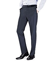 Big & Tall Autograph Flat Front Trousers with Wool