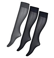 3 Pairs of Body Sensor™ 40 Denier Silky Soft Opaque Knee Highs
