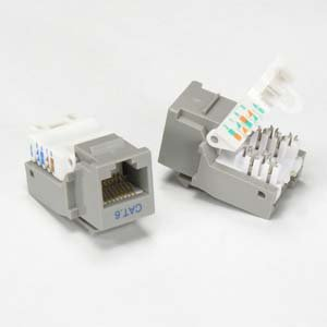 InstallerParts Cat 6 Tool Less Keystone Jack Grey (Low Profile Cat 6 compare prices)