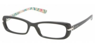 pradaPrada Vpr13n Black Demo Lens Eyeglasses