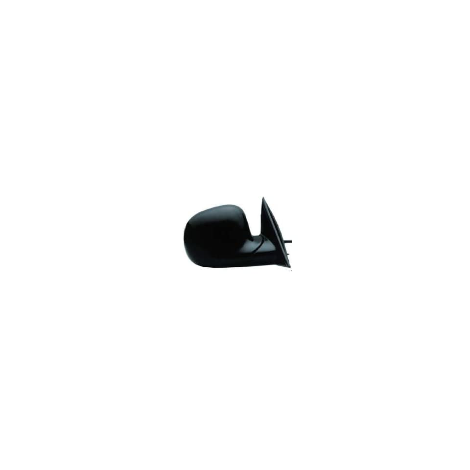 KAP GM1321185 New GMC Jimmy & Sonoma, Chev S10, Olds Bravada Passenger Side Mirror Electric Power Gloss Black Right Door Replacement