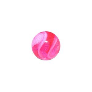 Piercing Kugel Acryl Rosa UV Marmoriert - Body Piercing & Schmuck - Größe: 1.2 mm / 16 G - Kugel: 03 mm
