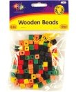 Wooden Beads 130 Pc Multicolor