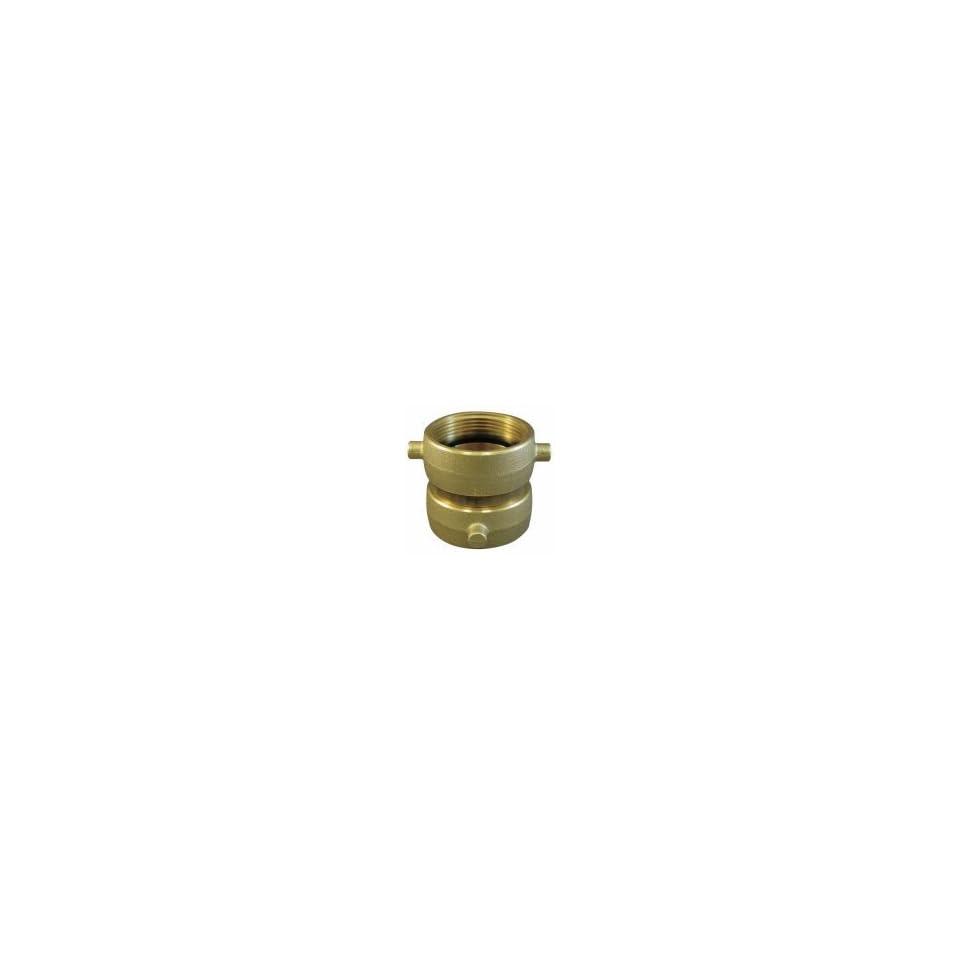 Moon Fire Hose Adapter, 1 1/2 In NH SW, Brass   379