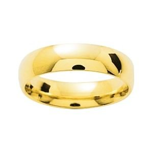 So Chic Jewels - 9k Yellow Gold 5 mm Classic Wedding Band Ring