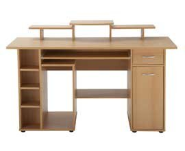 San Diego Wood Effect Workstation H910xW1420xD600mm