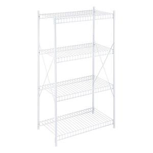Honey-Can-Do 4-Tier Storage Shelf, White Wire