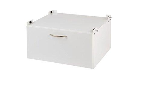 Xavax Base de colonne avec tiroir pour Machine à laver et Sèche-linge, 61 x 50 cm