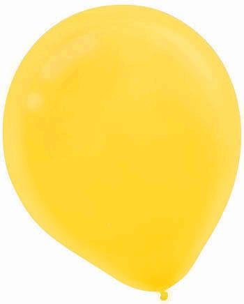 "Amscan Bulk Solid Color Latex Balloons, 12"", Yellow Sunshine"