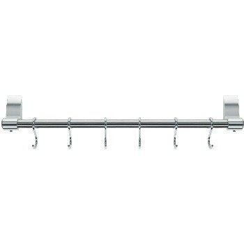 6 hooks and fixings hanger stellar stainless steel utensil - Barre ustensiles cuisine inox ...