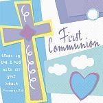 "1st Communion Celebration 10"" Beverage Napkins - 16/Pkg."