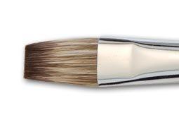 Vermeer Classic Mongoose Watercolor Short Handle Hair Brush Flat- Watercolor Brush 1-1/2