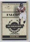 Warrick Dunn #65/100 Atlanta Falcons (Football Card) 2006 Donruss Classics Membership Gold #20