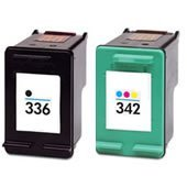 Prestige Cartridge 2 x HP 336 / HP 342 Cartucce d'Inchiostro Compatibile per Stampanti HP Photosmart/Deskjet/Officejet Serie, Nero/Colore